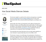 How social media silences debate - The Upshot